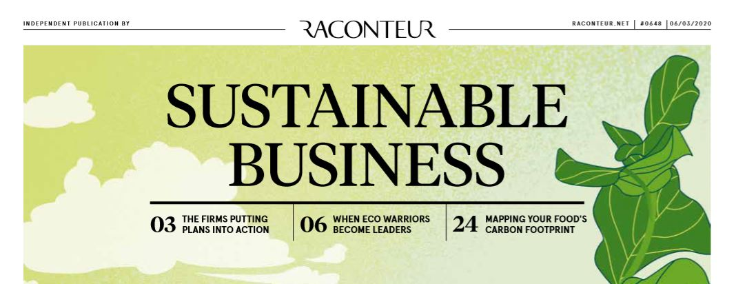 BPIF Cartons advert in Raconteur supplement on Sustainable Business